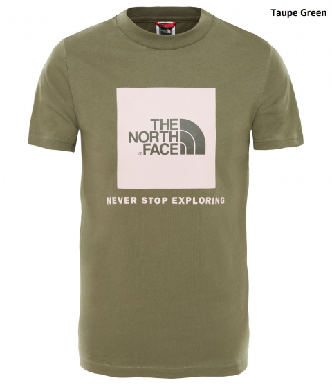 The North Face Youth Box Short Sleeve Tee - Cotton T-Shirt